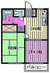 川口ハイム[2階]の間取り