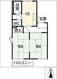 EXIVII[2階]の間取り