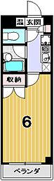 ピュア衣笠[303号室]の間取り