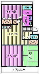 松沢マンション[203号室]の間取り