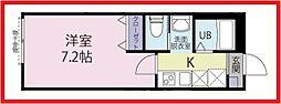 東京都足立区入谷1丁目の賃貸アパートの間取り