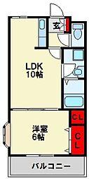 センチュリオン黒崎[102号室]の間取り