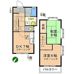 [テラスハウス] 神奈川県相模原市南区若松1丁目 の賃貸【/】の間取り