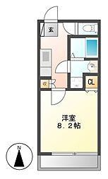 パックス御器所[4階]の間取り