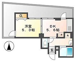 グラシア鶴舞[6階]の間取り