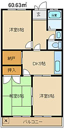 高関コーポ[306号室]の間取り