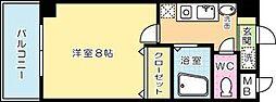 福岡県北九州市小倉北区篠崎4丁目の賃貸マンションの間取り