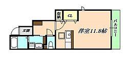 名谷ハイツII[1階]の間取り