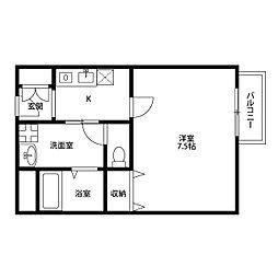 アンプルール 茨木[1階]の間取り