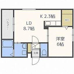 北海道札幌市中央区北七条西18丁目の賃貸マンションの間取り