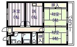 K's ハウス[2階]の間取り