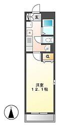ネスト三吉[3階]の間取り
