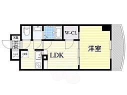 Osaka Metro御堂筋線 新大阪駅 徒歩5分の賃貸マンション 10階1LDKの間取り