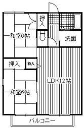 ロイヤルハイツ那珂川[1階]の間取り