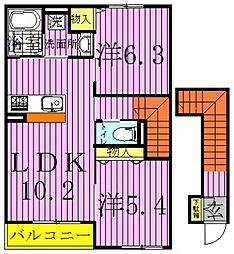Riviere cote[2階]の間取り