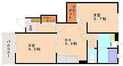 ラッフィナートII[1階]の間取り