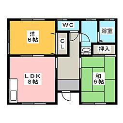 [一戸建] 静岡県浜松市東区小池町 の賃貸【静岡県 / 浜松市東区】の間取り