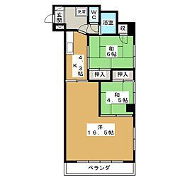 奈良マンション[2階]の間取り