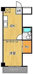 ドミトリー甲子園[3階]の間取り