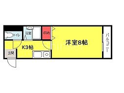 大阪府堺市堺区中之町東2丁の賃貸マンションの間取り