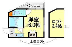 プチグレイス塚口本町壱番館[2階]の間取り