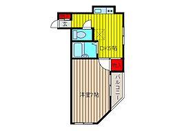 北川ハイツ[3階]の間取り