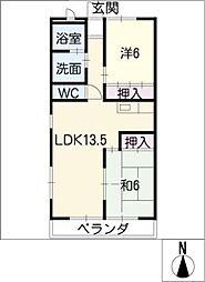 メゾン・ソレイユ[3階]の間取り