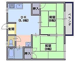 サンメイト喜多1[1階]の間取り