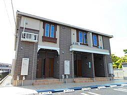 山梨県甲斐市大下条の賃貸アパートの外観
