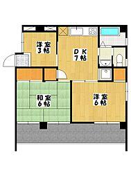 菅野マンション[1階]の間取り
