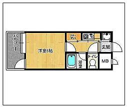 ピュアドーム大濠アクレーム[508号室]の間取り