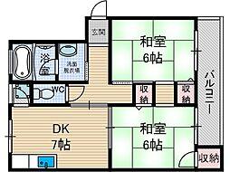 奈良コーポ[2階]の間取り