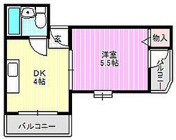 ユーミーハイツ萱島[3階]の間取り