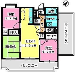 グランシャリオ21[5階]の間取り