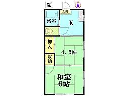 川村荘[2-A号室]の間取り