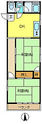 コーポ有田[103号室]の間取り