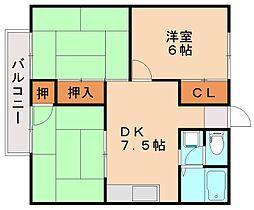 コーポ静和B[2階]の間取り