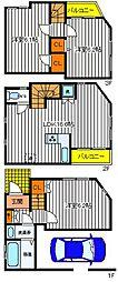 [一戸建] 東京都立川市高松町1丁目 の賃貸【/】の間取り