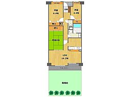 夙川パークマンション[3階]の間取り