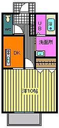 サンク・ソレイユB[203号室]の間取り