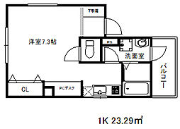 兵庫県神戸市中央区大日通6丁目の賃貸マンションの間取り
