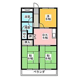 エクセル春日井[4階]の間取り