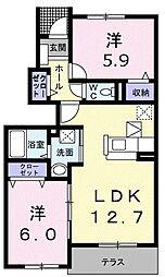 コンシェルシミズ I[1階]の間取り