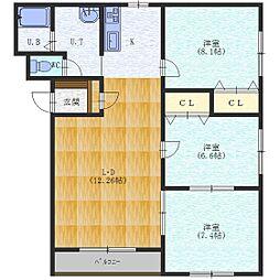 コーポワカサ2[1階]の間取り