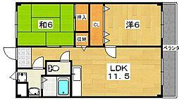 フェローズマンション[3階]の間取り