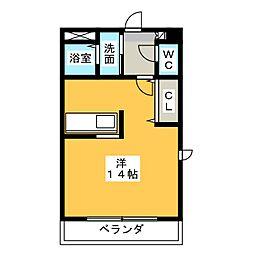 栄町パレス[2階]の間取り