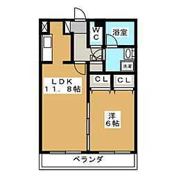 ケントクI[1階]の間取り