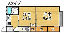 メゾン北加賀屋[2階]の間取り