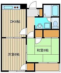 東京都練馬区大泉学園町2の賃貸アパートの間取り