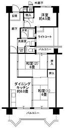 フロール新杉田[6階]の間取り